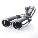 HARTMANN sports twin tailpipe for standard exhaust (for vehicle length L or XL), polished stainless steel